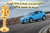 ۱۰ خودروی برتر ایران از لحاظ کیفیت در سه ماه نخست ۱۳۹۵