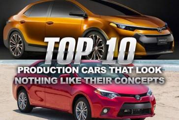 ۱۰ خودروی تولید شده که هیچ شباهتی با کانسپت خود ندارند!