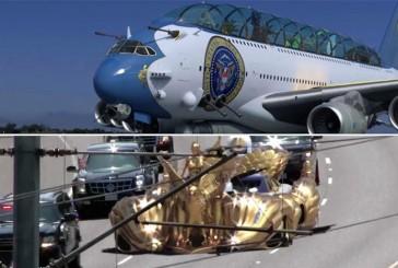 طرحی عجیب و خنده دار برای خودرو و هواپیمای رئیس جمهور جدید آمریکا!