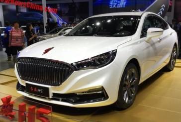 هونگکی H5، در شانگهای به نمایش گذاشته شد