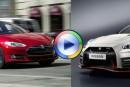 مسابقه سرعت بین تسلا S و نیسان GTR را ببینید! (ویدئوی اختصاصی)