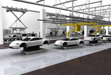 نمایش خط تولید جدید شرکت پورشه برای خودروهای برقی